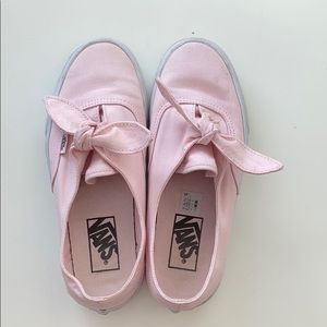 Pink knotted vans 💖 WORN ONCE!!